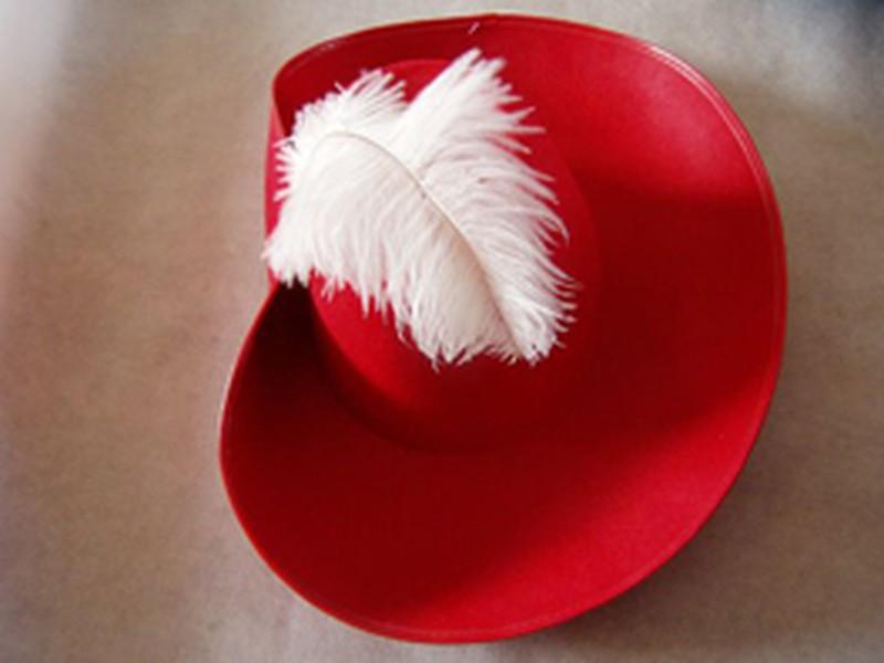 5c76f20ff0a0b Sombrero mosquetero infantil roj ne — DonDino juguetes